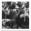 Some men, enjoying a tab, in the fifties